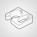 Настенный кронштейн AMB02-237-W0 для блендера Panasonic MX-GS1WTQ
