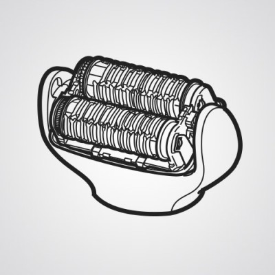 Головка для эпиляции ног/рук WESEL3AW1068 для эпилятора Panasonic ES-EL2A-A520.