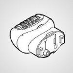 Головка для эпиляции ног/рук WESED70W1068 для эпилятора ES-ED70-G520