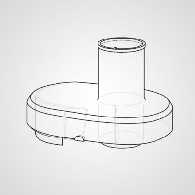 Крышка с горловиной для закладки продуктов AJD89P151-K0 для соковыжималки MJ-DJ01STQ .