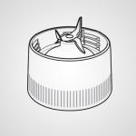 Основание контейнера блендера с режущим лезвием AVE86-2195K0 для соковыжималки MJ-DJ31STQ