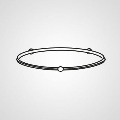 Роликовое кольцо A290D40L0TU для микроволновки Panasonic NN-GT264MZPE.