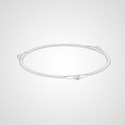 Роликовое кольцо A290D41V0ZP для микроволновки Panasonic NN-GM342WZPE.